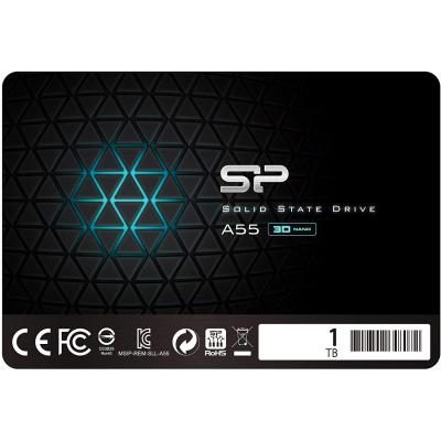 Silicon Power SSD 1TB 3D NAND A55 SLC Cache Performance Boost 2.5 Pollici SATA III 7mm