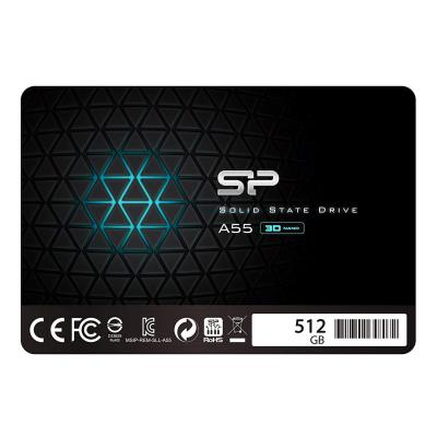 Silicon Power SSD 512GB 3D NAND A55 SLC Cache Performance Boost 2.5 Pollici SATA III 7mm